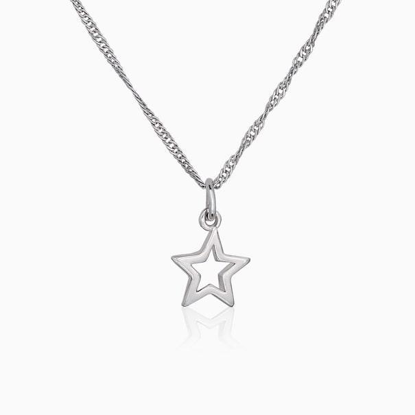 Кулон в форме звезды полый