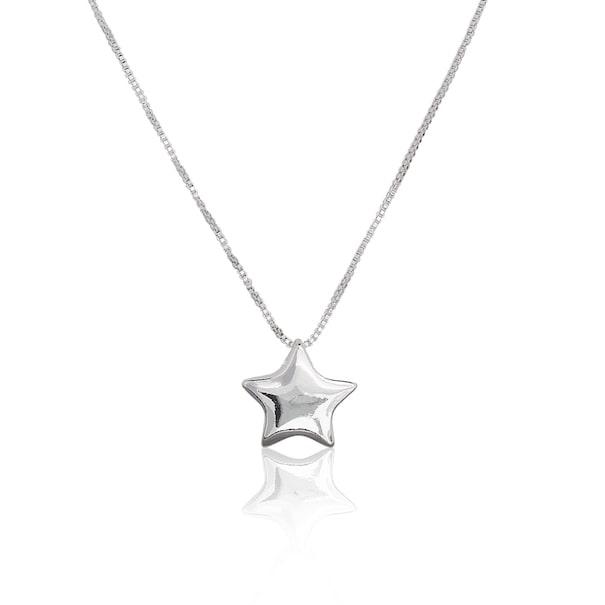 Кулон в форме звезды цельный